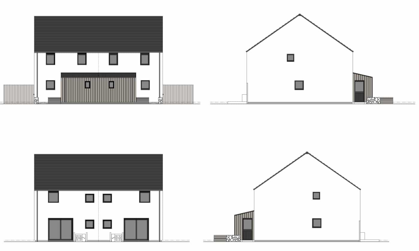 Semi detached R.House elevations